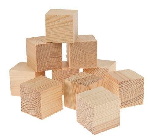 houten blokjes klein - 50st/pak 18 x 18 x 18mm | fullscreen