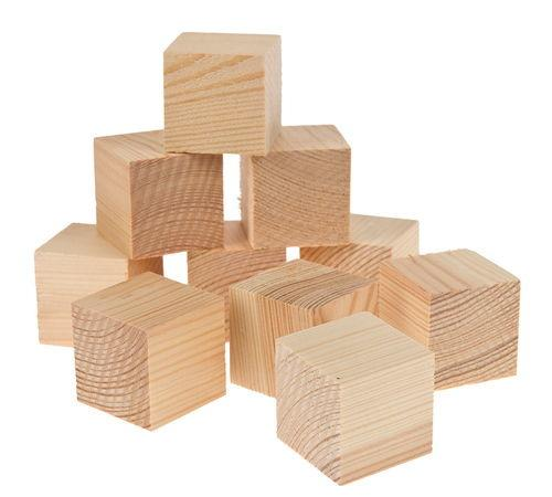 houten blokjes klein - 50st/pak 27 x 27 x 27 mm | fullscreen