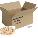 houten pluggen houten deuvels 100 stuks | fullscreen